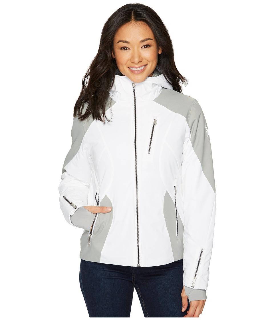 Spyder Avery Jacket (White/Limestone) Women's Coat