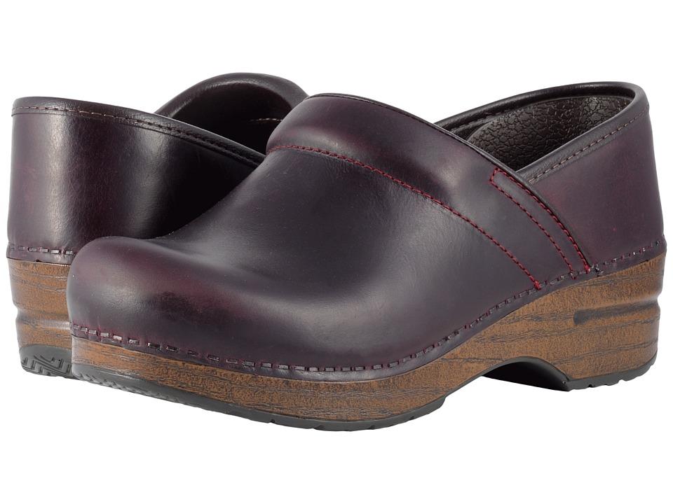 Dansko Professional (Cordovan Pull-Up) Clog Shoes