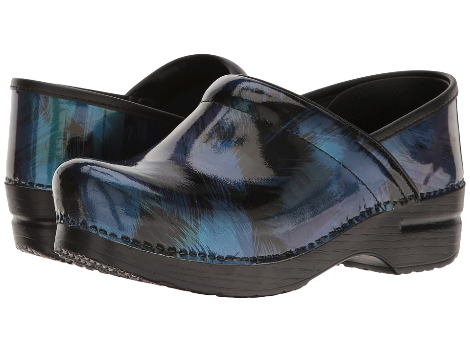 Dansko Professional (Blue Shadow Patent) Women's Clog Shoes