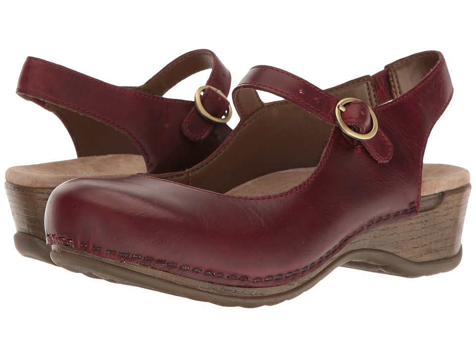 Dansko Maureen (Wine Pull-Up) Women's  Shoes