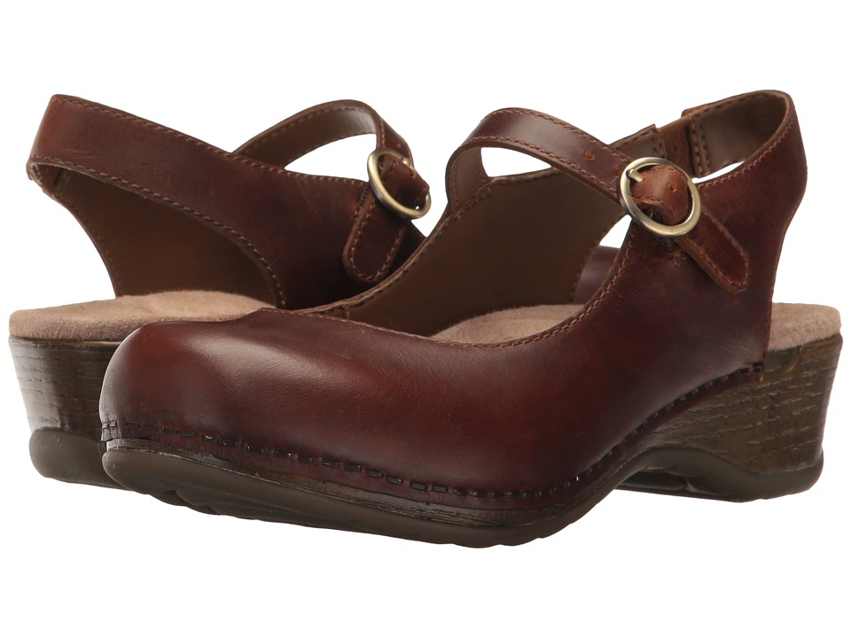 Dansko Maureen (Brown Pull-Up) Women's  Shoes