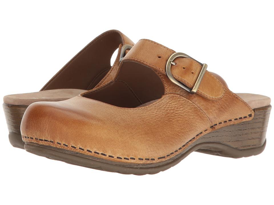 Dansko Martina (Honey Distressed) Women's Clog Shoes