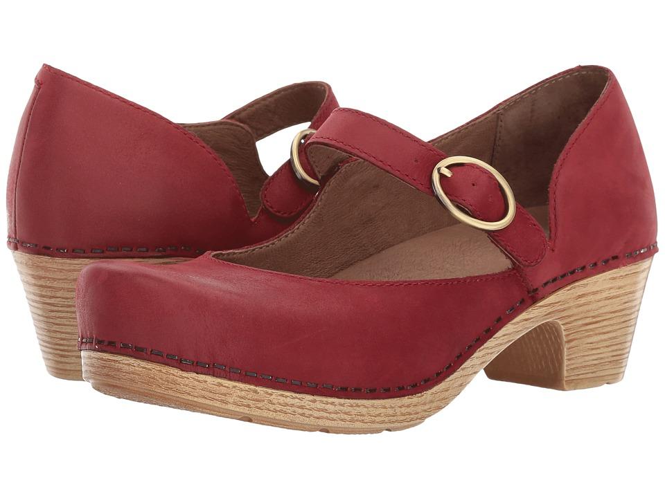 60s Shoes, Boots | 70s Shoes, Platforms, Boots Dansko - Missy Red Veg Womens  Shoes $144.95 AT vintagedancer.com