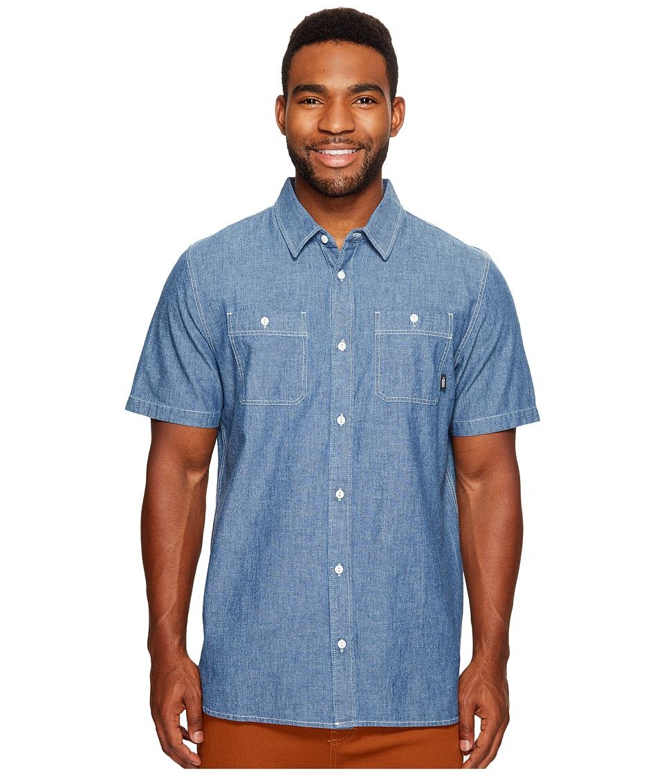 Vans - Carlow Short Sleeve Woven Top (Indigo Chambray) Men's Short Sleeve Button Up