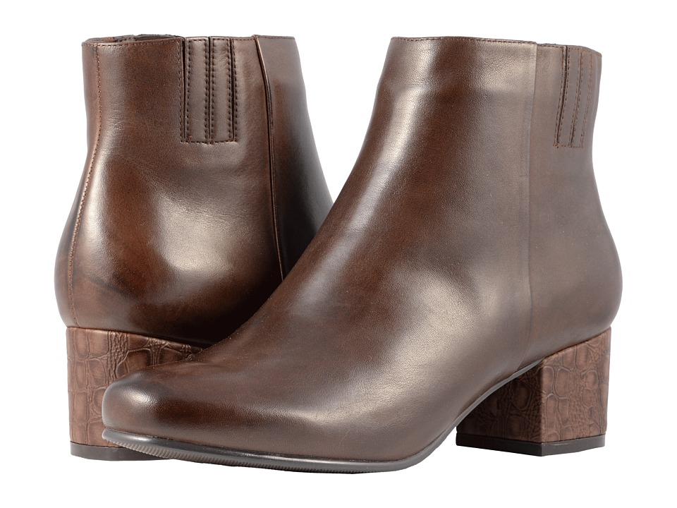 Trotters Shannon (Dark Brown Smooth Leather) Women