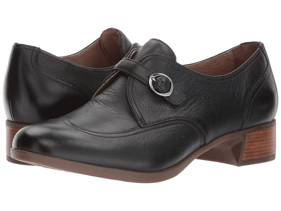 Dansko - Livie (Black Burnished Nappa) Womens  Shoes