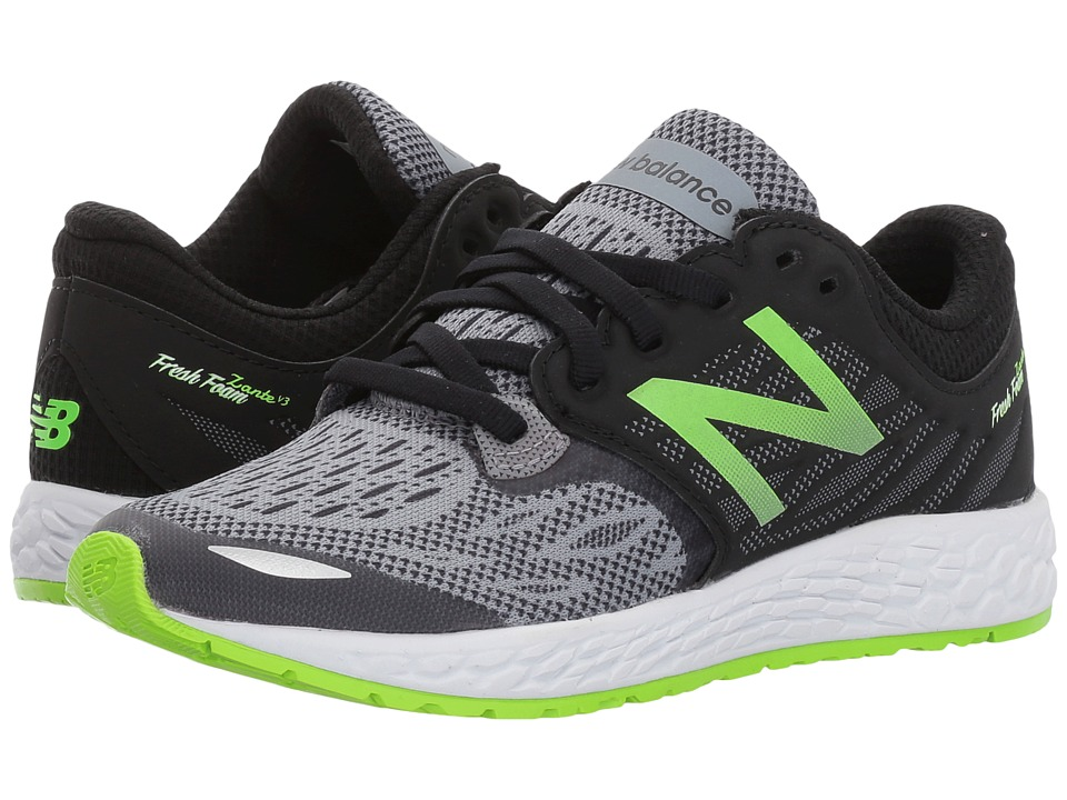 New Balance Kids Fresh Foam Zante v3 (Little Kid) (Black/Green) Boys Shoes