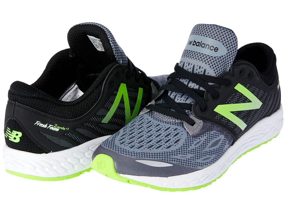 New Balance Kids Fresh Foam Zante v3 (Big Kid) (Black/Green) Boys Shoes