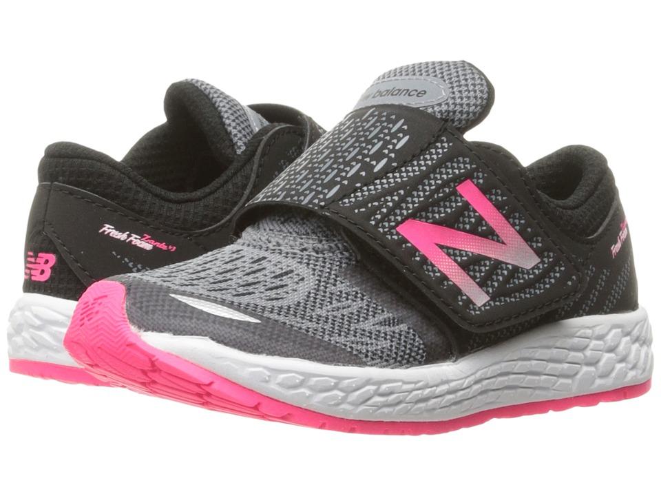 New Balance Kids Fresh Foam Zante v3 (Infant/Toddler) (Black/Pink) Girls Shoes