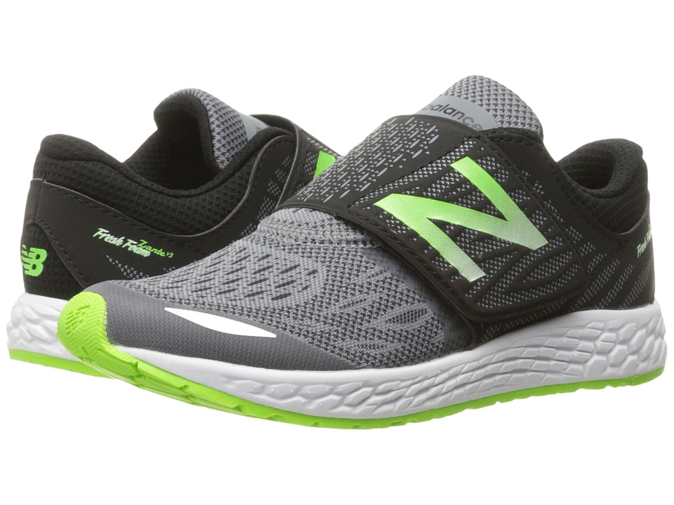New Balance Kids Fresh Foam Zante v3 (Little Kid/Big Kid) (Black/Green) Boys Shoes
