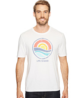 Life is Good - Color Block Sunrise Smooth Tee