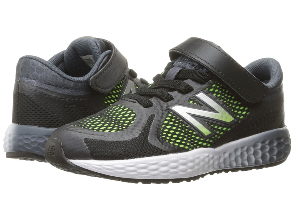 New Balance Kids KV720v4 (Little Kid/Big Kid) (Black/Lime) Boys Shoes