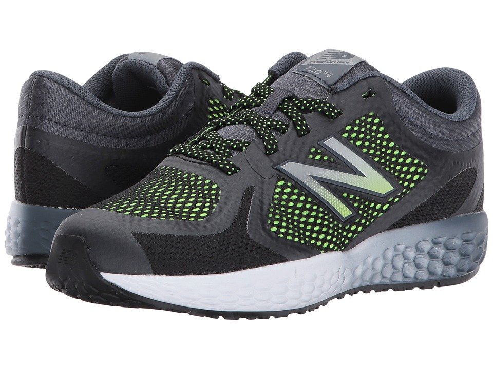 New Balance Kids KJ720v4 (Little Kid/Big Kid) (Black/Lime) Boys Shoes