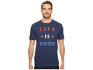Life is Good Red White Good Crusher Tee