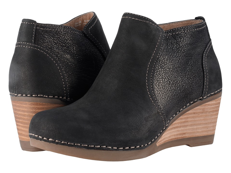 Dansko-Susan  (Black Nubuck) Womens  Shoes