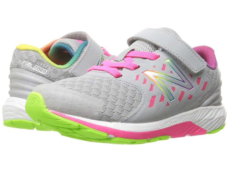 New Balance Kids Vazee Urge (Little Kid) (Grey/Pink) Girls Shoes