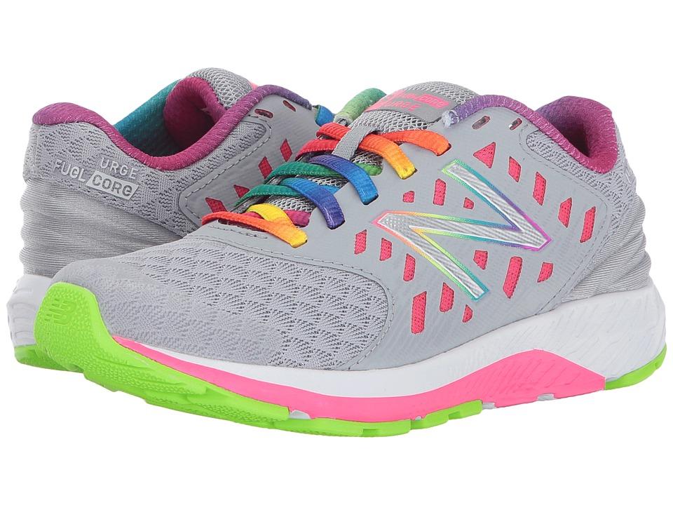 New Balance Kids FuelCore Urge v2 (Little Kid/Big Kid) (Grey/Pink) Girls Shoes