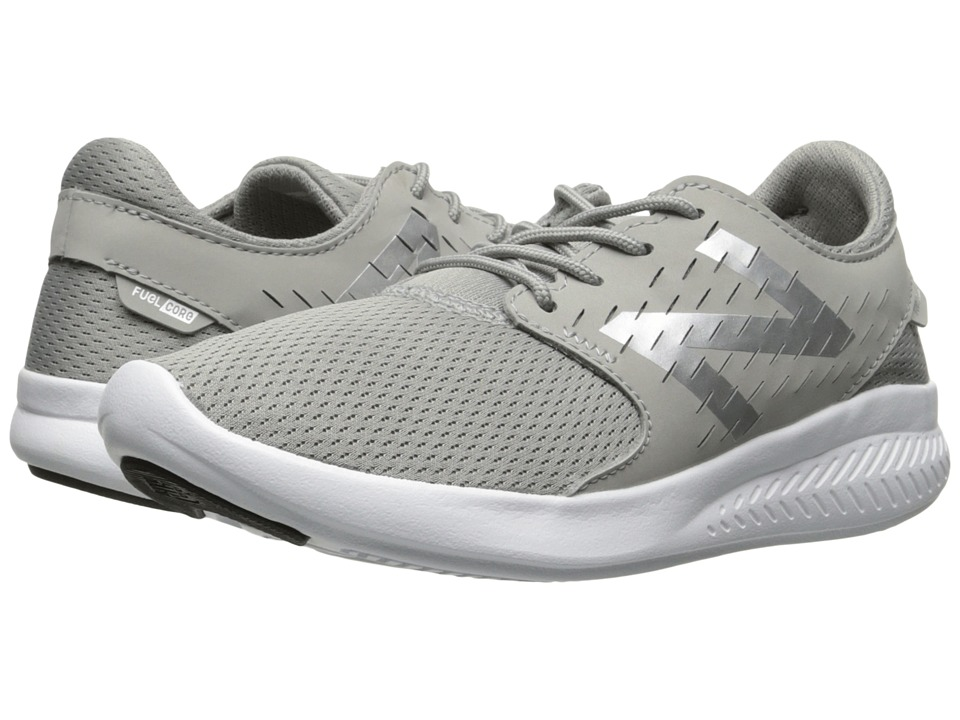 New Balance Kids FuelCore Coast v3 (Little Kid/Big Kid) (Grey/Navy) Boys Shoes