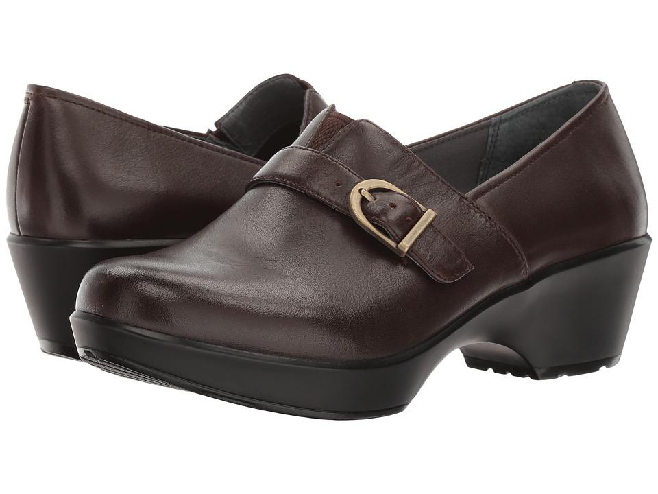 Dansko Jane (Chocolate Burnished Full Grain) Women's  Shoes