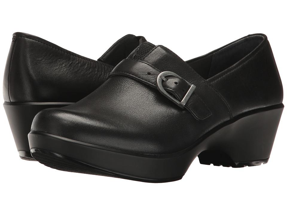 Dansko Jane (Black Burnished Nappa) Women's  Shoes