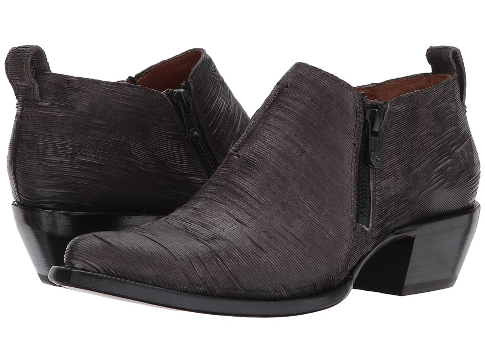 Frye Sacha Moto Shootie (Charcoal Cut Vintage Leather) Women