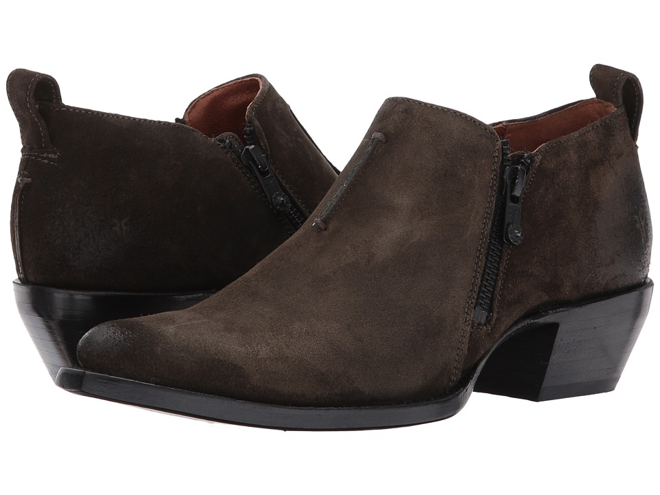 Frye Sacha Moto Shootie (Fatigue Soft Oiled Suede) Women