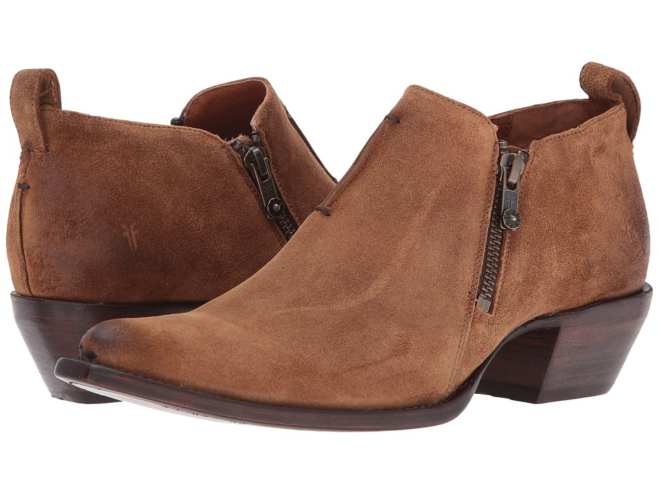 Frye Sacha Moto Shootie (Tan Soft Oiled Suede) Women