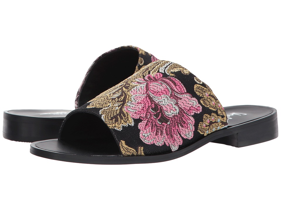 Shellys London Enya Floral Slide (Black Floral) Women
