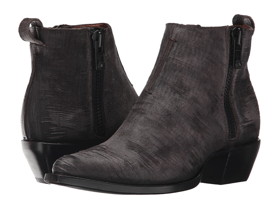 Frye Sacha Moto Shortie (Charcoal Cut Vintage Leather) Women