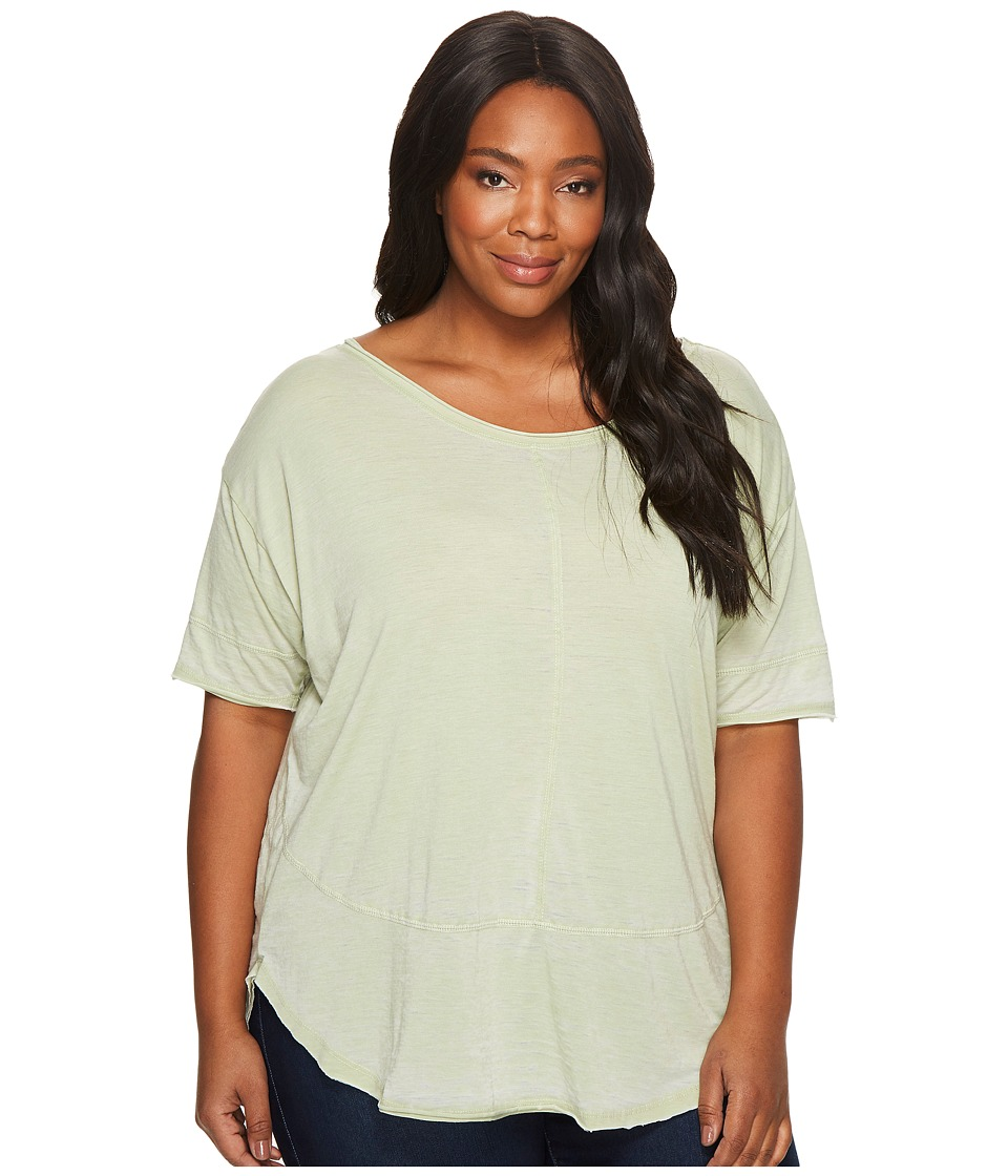 Jag Jeans Plus Size Plus Size Cafe Burnout Jersey Tee (Light Green) Women