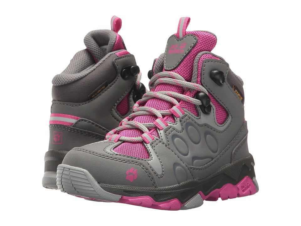 Jack Wolfskin Kids Mountain Attack 2 Waterproof Mid (Toddler/Little Kid/Big Kid) (Fuchsia) Kid's Shoes