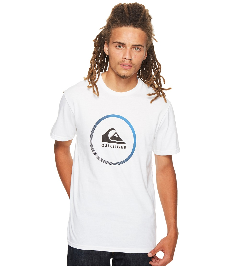 Quiksilver Active Logo Tee (White) Men