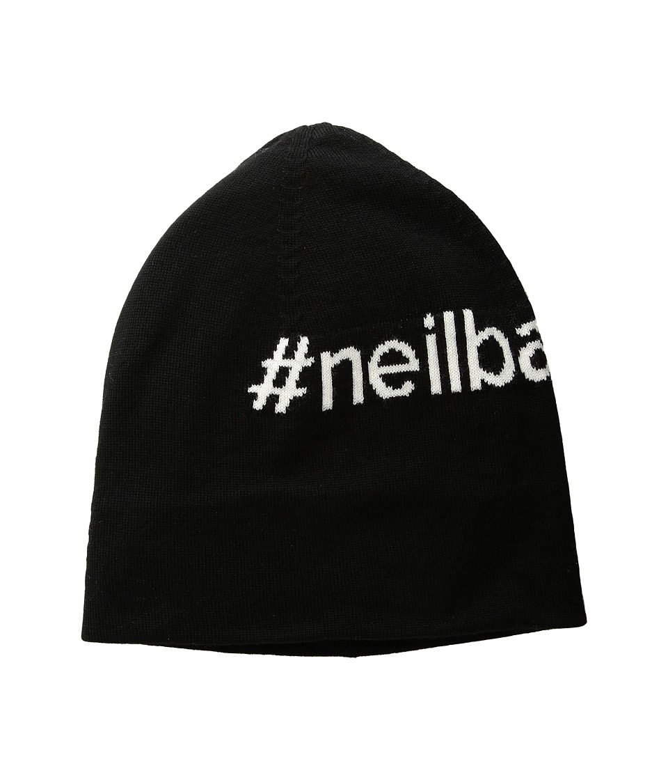 Neil Barrett - #Neil Barrett Beanie (Black/White) Beanies