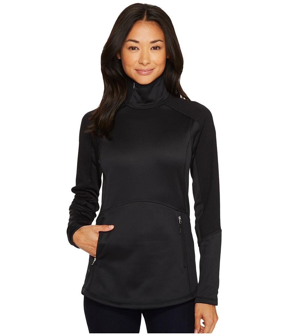 Spyder - Bandita 1/2 Zip LT WT Stryke Jacket (Black/Black) Women's Coat