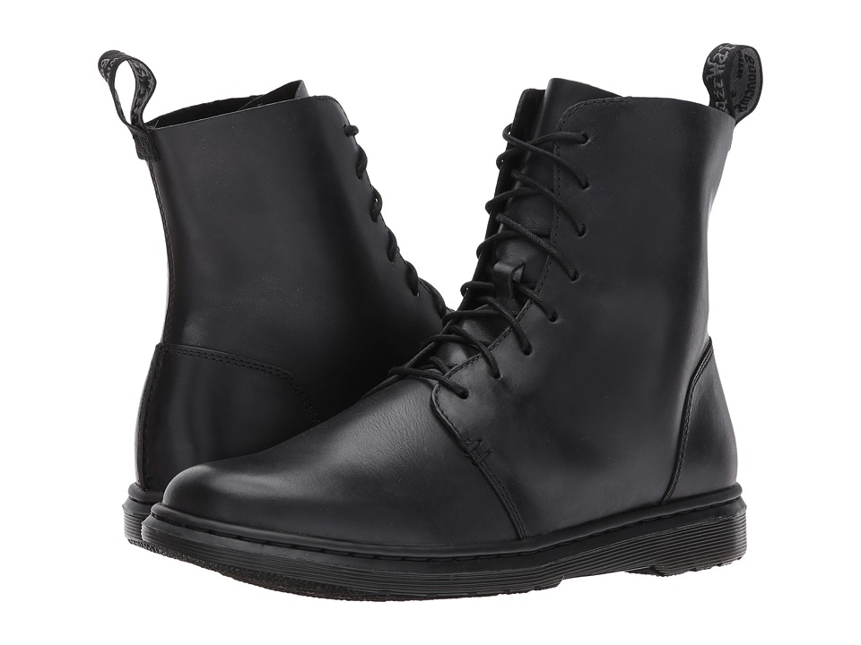 Dr. Martens Danica 8-Eye Boot (Black New Oily Illusion) Women