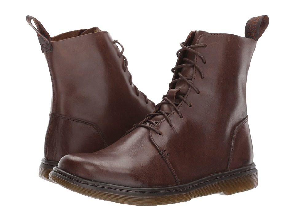Dr. Martens Danica 8-Eye Boot (Dark Brown New Oily Illusion) Women