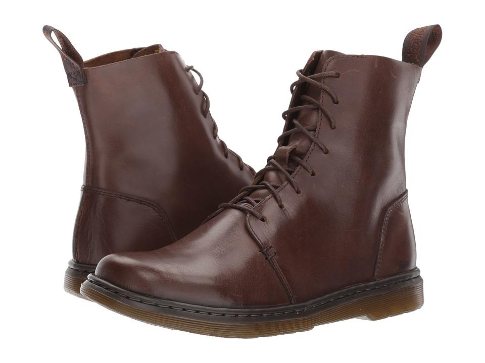 Dr. Martens Danica 8-Eye Boot (Dark Brown New Oily Illusion) Women
