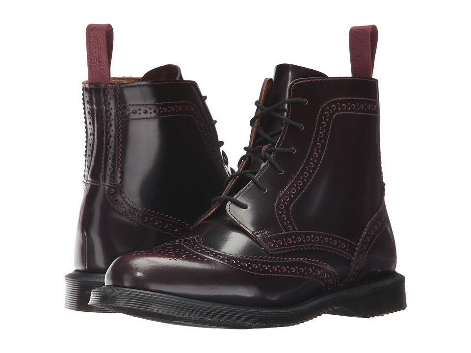 Dr. Martens Delphine 8-Eye Brogue Boot (Cherry Red Arcadia) Women