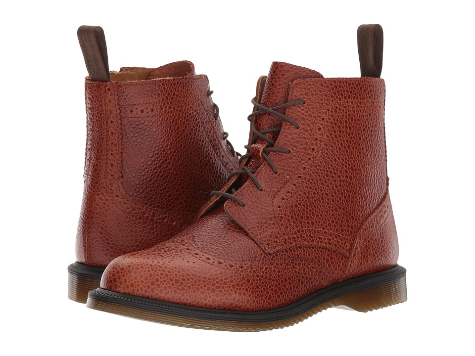 Dr. Martens Delphine 8-Eye Brogue Boot (Chestnut Coastal) Women