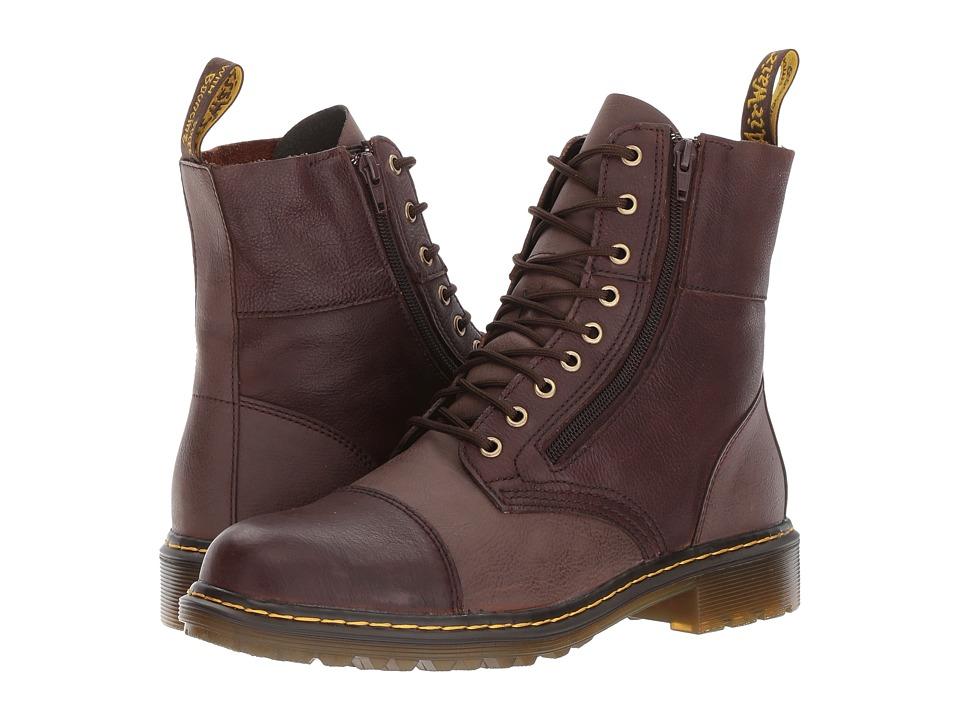 Dr. Martens Denton 9-Tie Boot (Dark Brown Vancouver Synthetic/Dark Brown Low Down) Men