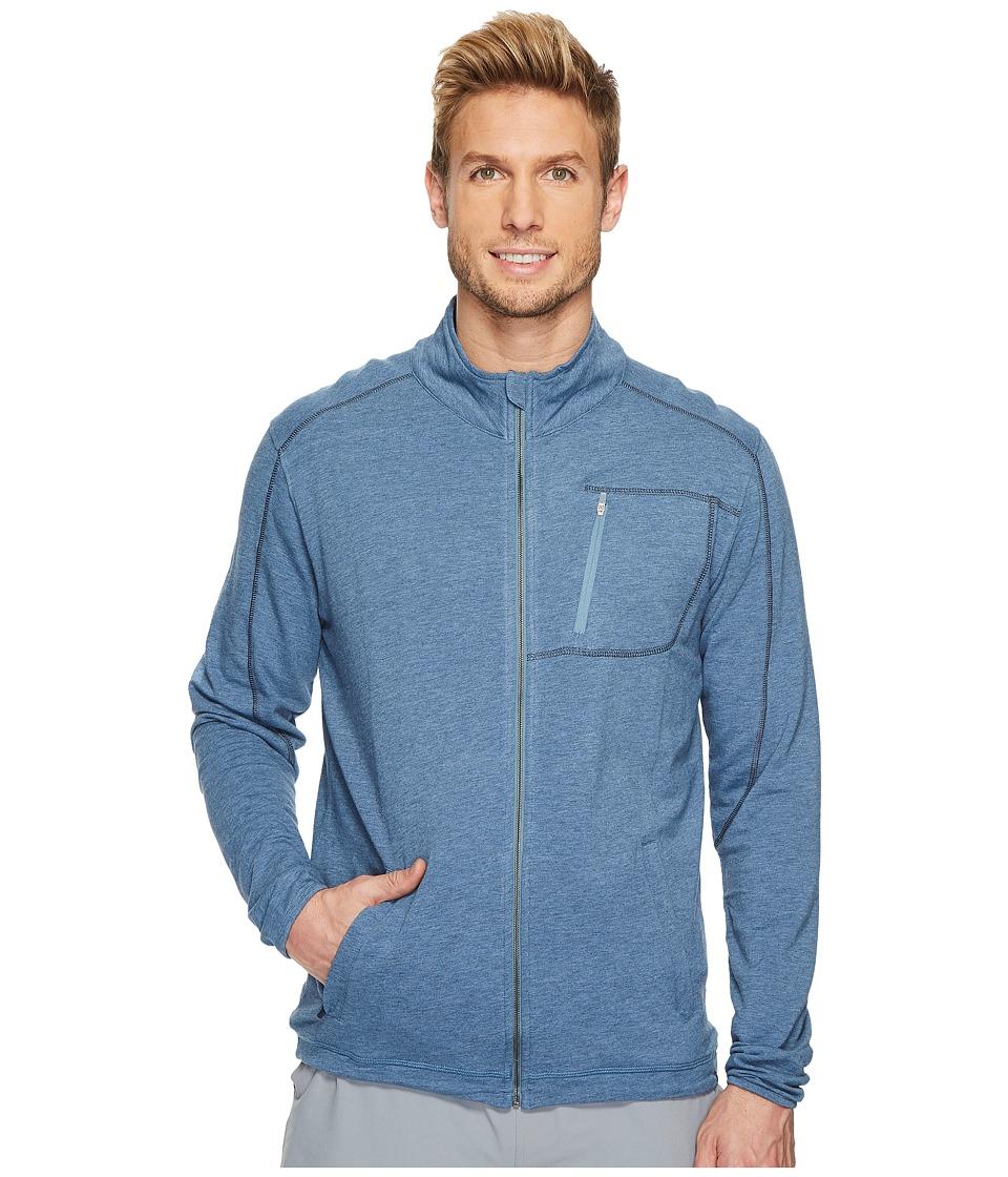 tasc Performance Tahoe Fleece Full Zip Jacket (Indigo Heather) Men