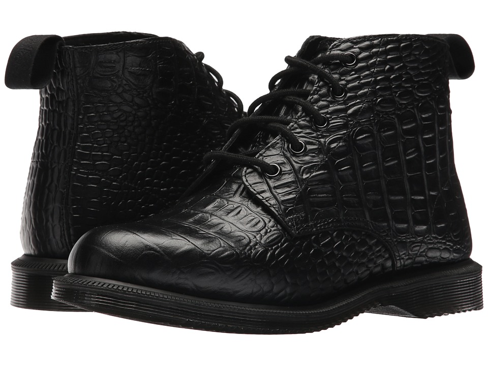 Dr. Martens Emmeline 5-Eye Boot (Black New Vibrance Croco) Women