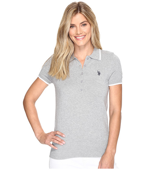 U.S. POLO ASSN. Short Sleeve Solid Polo Sweater