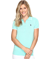 U.S. POLO ASSN. - Short Sleeve Solid Polo Sweater
