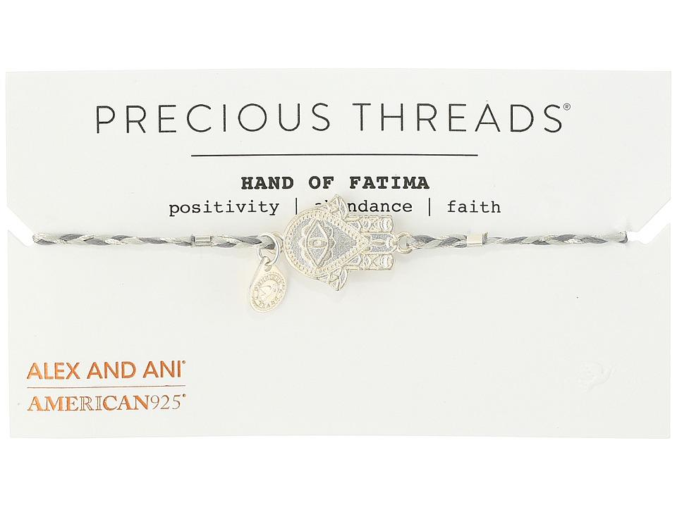 Alex and Ani - Precious Threads - Hand Of Fatima Moonlight Braid Bracelet