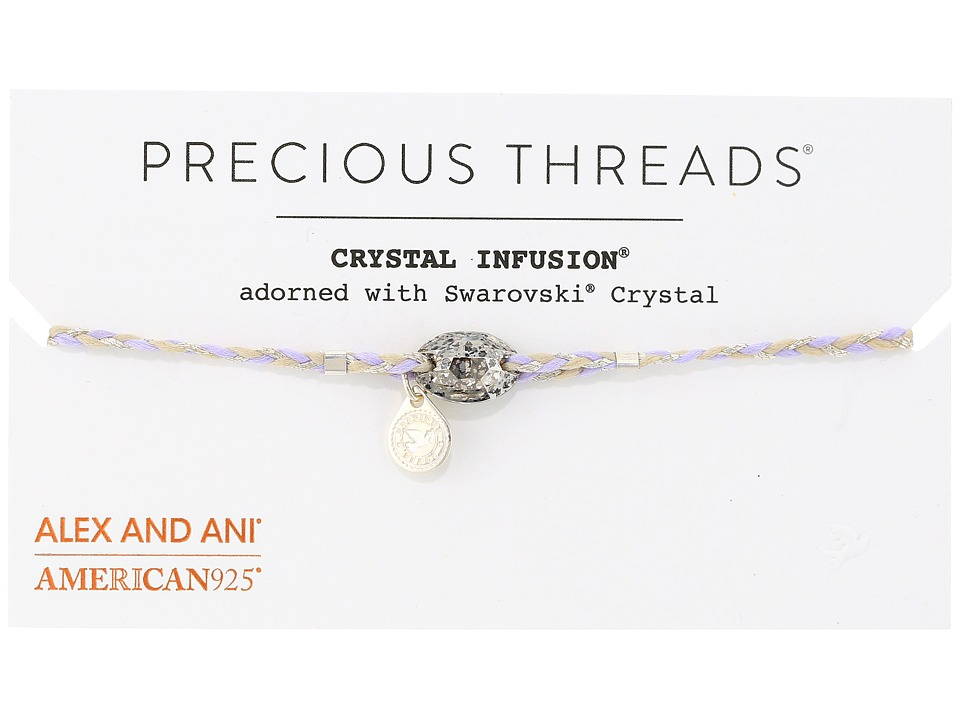 Alex and Ani - Precious Threads - Icy Moon Crystal Periwinkle Braid Bracelet