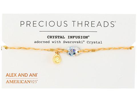 Alex and Ani Precious Threads - Golden Ray Crystal Daybreak Braid Bracelet - 14kt Gold Plate