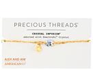 Alex and Ani - Precious Threads - Golden Ray Crystal Daybreak Braid Bracelet