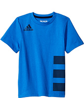 adidas Kids - Three Stripe Wrap Tee (Big Kids)