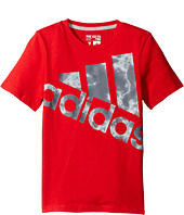 adidas Kids - Smokescreen Logo Tee (Toddler/Little Kids)